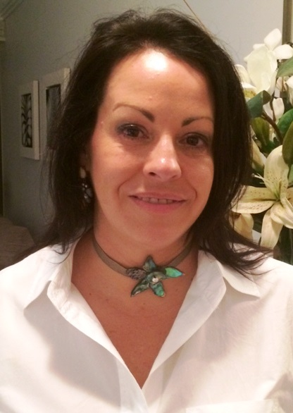 Janine from Gold Coast wearing Fleur Necklace on Ribbon